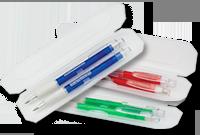 Coffret avec stylo et pousse-mine en plastique Image