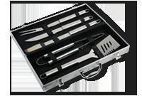 Valise en acier avec 5 ustensiles à BBQ Image