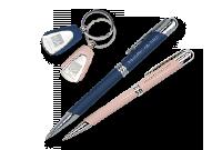 Coffret porte-clés et stylo satiné Image