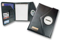 Portfolio trois volets en simili cuir avec calculatrice Image