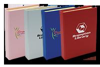 Mini livre avec notes adhésives et signets colorés adhésifs Image