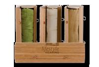 Serviette et boîte de bambou Image