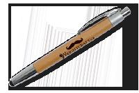 Stylo en bambou et chromé et stylus Image