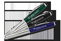 Stylo aluminium et stylus avec lampe LED et pointeur laser Image